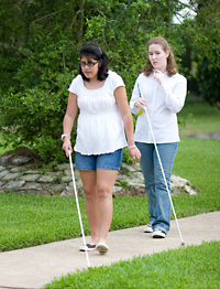 Kayla and Kayleigh taking a stroll